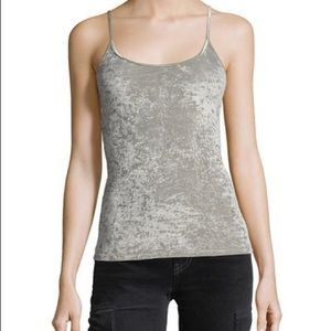 Vince Tops - Vince Velvet Scoop Neck Cami Taupe Large NWT